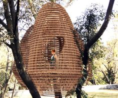 Mexico's Rojkind Arquitectos has used innovative digital fabrication production methods to create Casa del Arbol, a treehouse, for a family with three young daughters.
