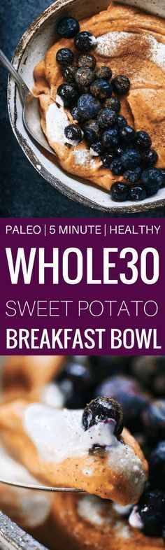 102 calorie whole30 and paleo breakfast! Only takes 3 ingredients and a few minutes to make. Loaded with healthy fats and protein! Naturally sweetened with sweet potato. Creamy and addictively smooth. Whole30 breakfast ideas. Best whole30 breakfast recipe