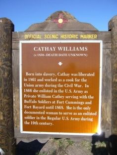 Cathay Williams Buffalo Soldier | Cathay Williams Marker Photo, Click for full size