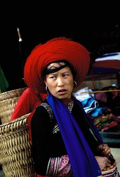 VIETNAM    		A Red Hmong woman visiting the weekly market in North West Vietnam
