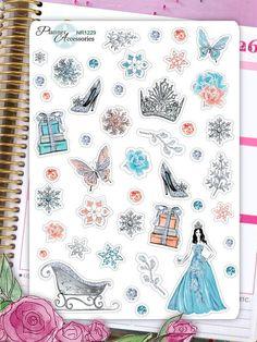 Sticker - Ice Queen Sticker, Winter Sticker NR1229 - ein Designerstück von PlannerAccessories bei DaWanda