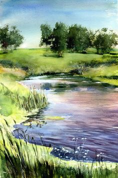 6 Useful Tips For Any Landscape Design – Home Dcorz Watercolor Landscape Paintings, Watercolor Pictures, Watercolor Trees, Watercolor Artists, Oil Painting Abstract, Landscape Art, Watercolor Portraits, Painting Art, Scenery Paintings