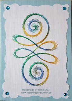 Geburtstag - Fadengrafik Grußkarten Set 207 Swirl - ein Designerstück von Bastelfan1809 bei DaWanda
