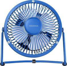 "Insignia™ - 4"" Mini Table Fan - Blue"