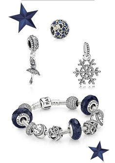Pandora Xmas blue