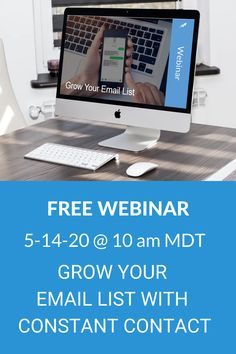 I am conducting a LIVE webinar training on how to grow your email list using Constant Contact's list sign-up tools. Email Marketing Lists, Contact List, Your Email, Email List, Training, Sign, Tools, Instruments, Education