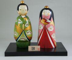 Usaburo Kokeshi Japanese Wooden Doll 4-6 Tachibina (Hina Ningyo Dolls) 160 €