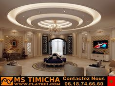 Choose from the largest collection of Latest False Ceiling Design & Decorating Ideas to add style. Discover best False Ceiling inspiration photos for remodel & renovate, here. Gypsum Design, Gypsum Ceiling Design, House Ceiling Design, Ceiling Design Living Room, Bedroom False Ceiling Design, False Ceiling Living Room, Ceiling Light Design, Home Ceiling, Ceiling Lights