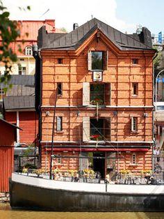 The coffee roastery/bar/café in Porvoo, Finland. Beautiful Homes, Beautiful Places, Baltic Cruise, Italy Honeymoon, Wings Tour, Scandinavian Countries, Scandinavian Living, Helsinki, Denmark