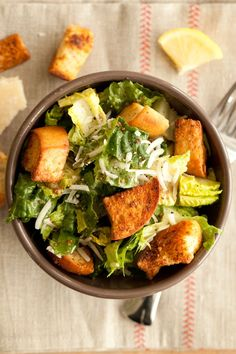 Best Caesar Salad (with a new dressing)