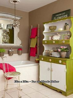 armário da cozinha no banheiro... pode!
