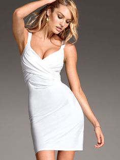 Cross-front Bra Top Dress Have 2 in different colors -- white and peach