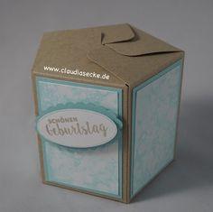 Stampin Up, Seifenblasen, Technik, Geschenktüten Brett, Giftbag Punch Board, Verpackung, Schachtel, Box, Claudiasecke