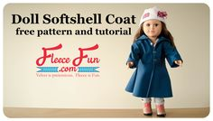 FREE DIY Pattern and Tutorial on how to make your own doll coat! This adorable long coat is perfect for keeping dolly ready for winter.