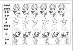 telspel: getalbeelden Solar System Worksheets, Solar System Activities, Kids Math Worksheets, Planets Activities, Abc Activities, Space Activities, All About Me Preschool, Math For Kids, Space Theme Preschool