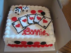 Casino theme sheet cake casino theme cake images slot machine cupcakes red and black poker sprinkles Casino Theme Parties, Casino Party, Casino Night, Party Themes, Party Ideas, Cupcakes, Cupcake Cakes, Poker Party, Casino Cakes