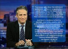 jon stewart Quotes   Jon Stewart on the Younger Generation