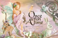 …Once Upon A Time – Oil painted clipart Fairies, enchanted animals, flowers, floral arrangements Pencil Illustration, Graphic Illustration, Creative Illustration, Watercolor Illustration, Once Upon A Time, Clipart, Floral Frames, Create Your Own Story, Animal Silhouette