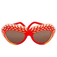 A Pair of 1980s Red Isabel Canovas Sunglasses   From a collection of rare vintage sunglasses at https://www.1stdibs.com/fashion/accessories/sunglasses/
