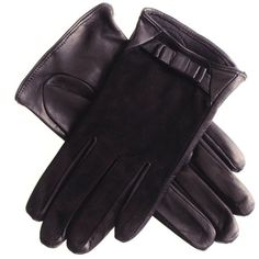 Black Suede and Leather Bow Gloves (51 AUD) ❤ liked on Polyvore featuring accessories, gloves, leather bow gloves, suede gloves, palm gloves, black gloves and short gloves