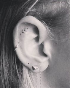awesome Tiny Tattoo Idea - Best Tiny Tattoo Idea - 16 Tiny Ear Tattoos That Are Perfect For Minimalists......