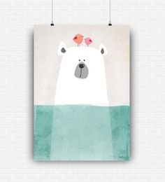 Illustration poster art with cute polar bear to decorate kids and nursery room.  This listing is for an INSTANT DOWNLOAD. No physical product will be delivered.  *** DOWNLOAD INCLUDES *** • 1 file in medium size 8x10 (20.3X25.4 cm) • 1 file in large size 11X14 (28X35.5 cm) • 1 file in xlarge size 16x20 (40.6x50.8 cm)  All in high quality (300 dpi), JPEG format. The digital files will be instantly available to download, after your payment transaction is complete. You can print it at home or…