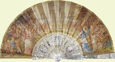 English - 'National Progress' fan, c. 1877. Commemorative fan commissioned by Queen Victoria.
