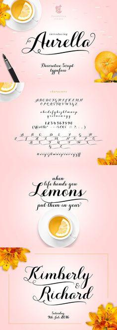 Aurella Script. Wedding Card Templates