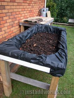 Bath Tub Worm Farm and Garden Bed - what is the purpose of the plastic?