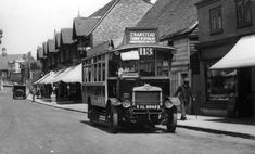 1920s  London General's solid-tyred S439 in Malden Road, Cheam on route 113 from Raynes Park to Banstead in the 1920s.