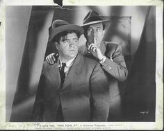 A vintage press shot of comic legends' Bud Abbott and Lou Costello for the 1942 comedy classic, WHO DONE IT?