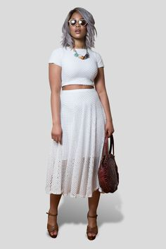 Paris Skirt- Bright White