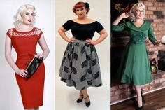 Plus Size Dress Up Clothes - Purchasing designer plus size clothing is a bet for people who weren't blessed with a curvaceo Pin Up Outfits, Dress Up Outfits, Retro Outfits, Bettie Page Clothing, Designer Plus Size Clothing, Cute Dresses, Dresses With Sleeves, Plus Size Fashion Blog, Plus Size Outfits