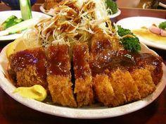 cutlet, mustard, tonkatsu sauce 豚カツ, とんかつ