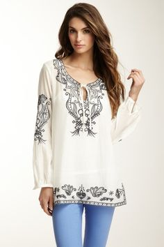 Embroidered Peasant Top by Monoreno on @HauteLook