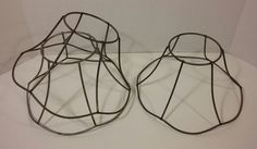 Lot of 3 Vintage Metal Wire Lampshade Frames Form Lighting Fixture Art DIY Crafting Flower Victorian Scalloped by FullOfPossibilities on Etsy Wire Lampshade, Vintage Lighting, Vintage Metal, Light Fixtures, Frames, Victorian, Diy Crafts, Crafting, Etsy
