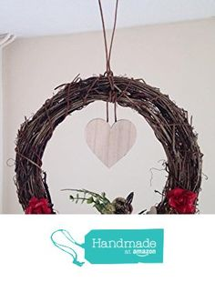 """Unique Handmade Personalised Christmas Memory Wreath 12"""" from Isobel's Wish 2 https://www.amazon.co.uk/dp/B01LY3W273/ref=hnd_sw_r_pi_dp_oUO9xbATQ0VB3 #handmadeatamazon"""