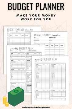 This comprehensive budget planner printable system helps you focus on both on the long term and short term. There are 3 worksheets to help you form and track your budget and overall personal finances. The first worksheet (2 pages) guides you through creating a monthly budget. Typical items such as a house payment or food are provided as well as additional line items to give you flexibility for your situation.