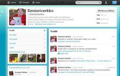 Senioriverkon Twitter-tili on ahkerassa käytössä.