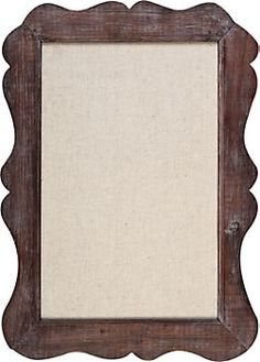 Vintage Pin Board Frame @ $39.95.  This is very cool, and is reminiscent of my antique mirror frame.  Essential!