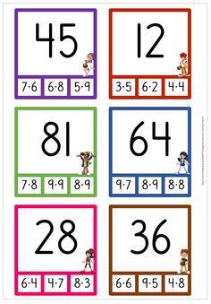 30 nypkort multiplication Source by tpeuhkuri Math School, School Daze, Primary School, Math 2, Preschool Math, Multiplication, Math Sheets, Montessori Math, Free Teaching Resources