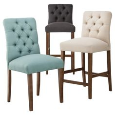 Threshold Brookline Tufted Dining Collection | Target  $99.99 for Bar Stool & $169.99 for set of 2 Dining Chairs.