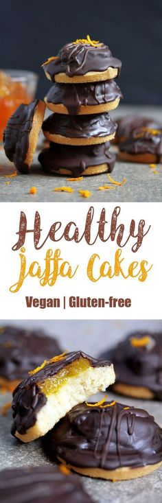 #Vegan & Gluten-free Jaffa #Cakes Jaffa cakes are one of those treats that I missed the most since I started avoiding dairy and gluten. Once a Jaffa Cake pack was opened, there was no stopping me…