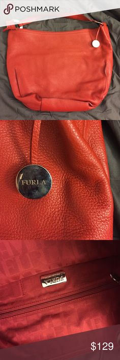 Furla Leather Bag Like new, used only once Furla Bags Hobos