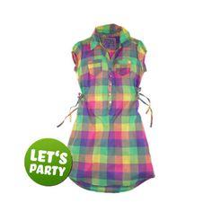 EIGHT2NINE - Kariertes Blusen-Kleid for Women - Jetzt bei FASHION5 - Dein Online Store für Young Fashion - www.FASHION5.de
