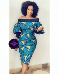 2019 Lovely Ankara Short Gown Styles for Pretty Ladies – … by Zahra . from Diyanu - Ankara Dresses, Shirts & Ankara Short Gown Styles, Short African Dresses, Short Gowns, Latest African Fashion Dresses, African Print Dresses, African Print Fashion, Ankara Fashion Styles, Short Styles, Africa Fashion