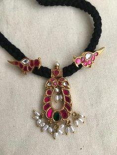 Silver Choker, Beaded Choker, Jewelry Tags, Pearl Chain, Gold Polish, Pink Stone, Stone Pendants, Gold Jewellery, Antique Jewelry