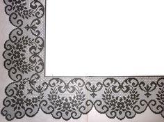 Pontas e mais pontas. Crochet Patterns Filet, Hand Embroidery Design Patterns, Crochet Borders, Crochet Diagram, Doily Patterns, Weaving Patterns, Crochet Designs, Crochet Stitches, Crochet Filet
