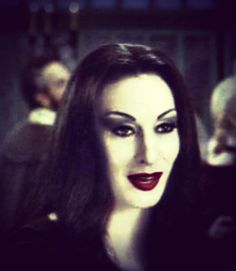 - The social network for meeting new people Morticia And Gomez Addams, Long Straight Black Hair, Black Gothic Dress, Creepy People, Charles Addams, Lily Munster, Pale Skin, Little Monsters, The New Yorker