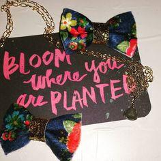 Felt bows #etsy #ticklefacylane #hairbows #floralprints #handmadeaccessories